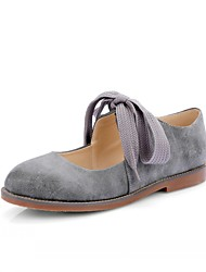Women's Flats Spring Summer Fall Winter Comfort Novelty Leatherette Outdoor Dress Casual Flat Heel Lace-up Gray Khaki Coral Other