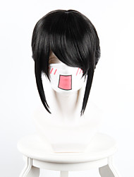 Your name Miyamizu Clover Black Twist Horsetail Horsetail Red Ribbon Cosplay High Temperature Wire Wig