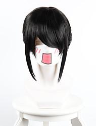 seu nome miyamizu trevo de torção preto cavalinha cavalinha cosplay fita vermelha de alta temperatura peruca fio