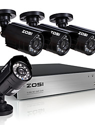 ZOSI®8CH 720P Video Recorder 4PCS 1.0MP Home Security Camera Surveillance