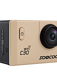 C30 Sports Action Camera 16MP 4608 x 3456 WiFi / Waterproof / Adjustable / wireless / Wide Angle 30fps No ±2EV 2 CMOS 32 GB H.264Single