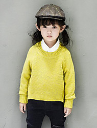 Girl Casual/Daily Solid / Striped Sweater & Cardigan,Acrylic / Cotton Blend Winter / Spring / Fall Long Sleeve Regular