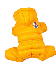 Dog Coat / Clothes/Jumpsuit Yellow Dog Clothes Winter / Spring/Fall Solid Casual/Daily / Keep Warm