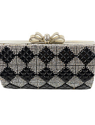 Women Diamonds Clutch/Formal / Event/Party / Wedding Evening Bag/ Metallic Rose/Purse/Handbags/Eveningbags