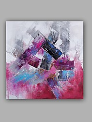 Pintada a mano Abstracto / Paisaje Pinturas de óleo,Modern / Clásico Un Panel Lienzos Pintura al óleo pintada a colgar For Decoración
