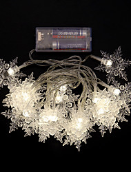 2M Warm/Cool White 20-LED String Light 8 Sparking Modes (AA Battery)