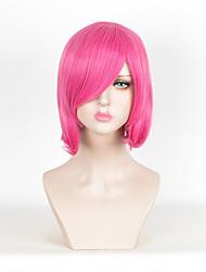 мода средний прямой розовый цвет синтетические парики дешевые парики для косплея