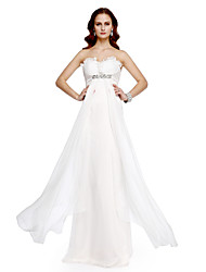 TS Couture® Prom  Formal Evening Dress - Celebrity Style A-line Sweetheart Floor-length Chiffon with Beading