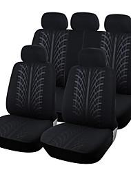 autoyouth neue Polgewebe voller Autositzbezug universell passend für die meisten Fahrzeuge der Marke Sitzbezüge schwarz Autositz Schutz