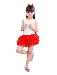 Girl Casual/Daily Solid Skirt-Cotton Blend Summer