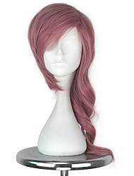 Women Girl Synthetic Short Curly Light Pink Color Final Fantasy Lightning Style Game Cosplay Party Full Wig