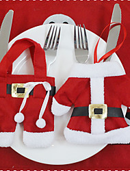 1Cover(2Pcs) Different Christmas Ornament Styles Newfangled Have A Festive Mood Christmas knives And Forks Cover