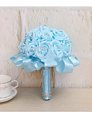 Hochzeitsblumen Rundförmig Rosen Sträuße Partei / Abend Satin 50 cm ca.