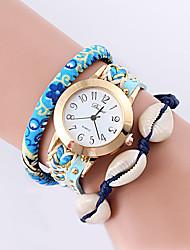 Women's Fashion Watch Wrist watch Bracelet Watch Quartz Colorful PU Band Vintage Bohemian Charm Bangle Cool Casual Multi-Colored Brand