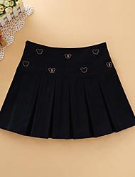 Damen Röcke,A-Linie DruckLässig/Alltäglich Mittlere Hüfthöhe Über dem Knie Elastizität Wolle Micro-elastisch Herbst