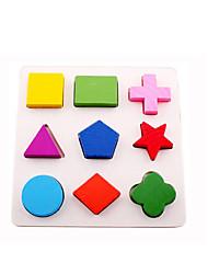 Puzzles Blocs de Construction / Puzzles 3D / Jouet Educatif Building Blocks DIY Toys Circulaire / Carré / Cylindrique / Triangle 9 Bois