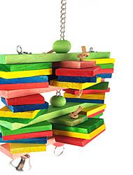 bois portable multi-couleur oiseau toys1pc