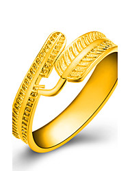 18k Gold Ring Leaf Non Stone Wedding / Party / Daily / Casual Jewelry Gold Women Ring 1pc One Size Adjustable Gold / Silver