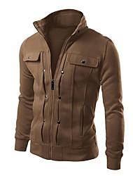 Men's Long Sleeves Jacket Zip Top Top for Running/Jogging Camping / Hiking Climbing Cycling/Bike Outdoor Indoor Slim White Black Coffee