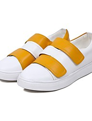 Women's Sneakers Fall Comfort Nappa Leather Casual Wedge Heel Magic Tape Yellow White Others