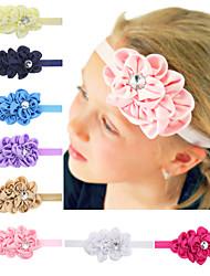 12pcs / set bebés headband da flor hairband acessórios para o cabelo todder infantil