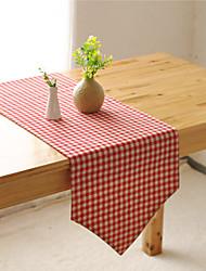 Rectangulaire Avec motifs / Vichy Chemins de table , Coton mélangé Matériel Hôtel Dining Table / Tableau Dceoration