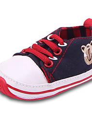 Garçon Bébé Ballerines Confort Premières Chaussures Toile Printemps Automne Décontracté Confort Premières Chaussures Elastique Talon Plat