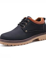 Masculino-Botas-Conforto-Salto Baixo-Preto Azul Marrom-Couro Ecológico-Casual