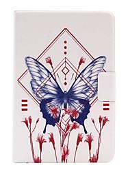 Pour Porte Carte / Origami Coque Coque Arrière Coque Papillon Dur Cuir PU pour Apple iPad Mini 4 / iPad Mini 3/2/1