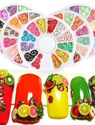 5boxs Unha Arte Decoração strass pérolas maquiagem Cosméticos Prego Design Arte