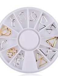 1pcs Gold Silver Hollow Metal Frame Nail Studs  Nail  Wheel