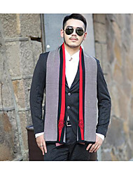 Men Acrylic Scarf,Casual RectangleColor Block