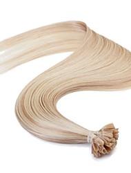 Neitsi 16'' 25g European Human Hair Extensions Straight Pre bonded U Nail Tip Remy AAAAA Quality Hair P18/613#
