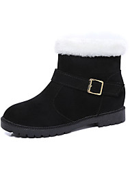 Women's Boots Fall Winter Platform Other Comfort Suede Fur Outdoor Dress Casual Chunky Heel Platform Buckle Others Black Green Gray
