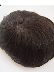 mens peruca 8x10 homens cabelo real mono base pu torno mono invisível baseado fio natural respirável reta