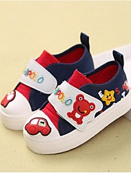 Boy's Flats Comfort Canvas Casual Blue / Red