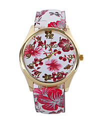 Fashion Casual Women Wrist Watches Quartz Lady Watch With Antique Chinese Style Flower Pu Leather Band