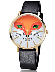 BAOSAILI Women's Fashion Watch Fox Case Japanese Quartz Colorful Leather Band Flower / Casual Black / White / Red Brand