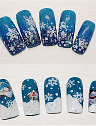 4pcs/pcs Nail Christmas Snowflake Nail Sticker Random Color