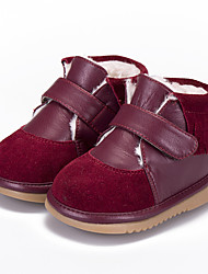 Girl's Boots Comfort Leather Casual Burgundy