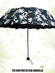 Preta Guarda-Chuva Dobrável Ensolarado e chuvoso Plastic Carrinho
