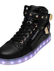 Unisexe-Décontracté-Noir / Rouge / BlancNouveauté-Sneakers-Cuir