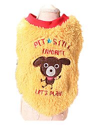 Dog Sweater Yellow / Blue Dog Clothes Winter / Spring/Fall Animal Keep Warm