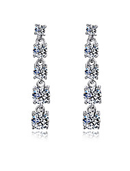 Cubic Zircon Sterling Silver Earrings For Women Earring Fashion Simple Wedding Engagement Earring Jewelery