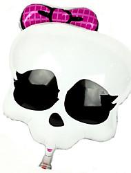 Balões Decoração Para Festas skull alumínio Branco Para Meninos / Para Meninas 5 a 7 Anos / 8 a 13 Anos