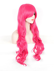 Fashion Red Color Long Cosplay Synthetic Wigs