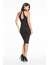 Women's  Mock Neck Key-Hole Back Dress