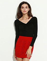 Women's Office Pleats Pure Mini Skirt