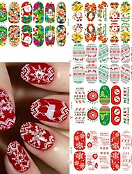 5pcs Nail Sticker Art Autocollants 3D pour ongles Maquillage cosmétique Nail Art Design