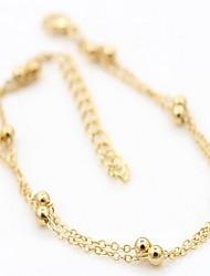 anklets en alliage d'or d'argent 2pc des femmes
